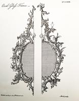 A Fine George III Giltwood Oval Mirror