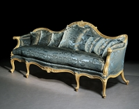 An Exceptional Giltwood Sofa Attributed to the Workshop of Thomas Chippendale