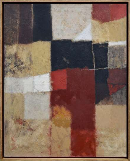 Wall Surface, Red & Black, 1964