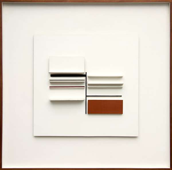 Abstract in White, Black, Maroon and Ochre, 1966-67