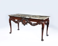 A Fine George II Period Irish Mahogany Side Table