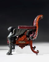 An Impressive Regency Period Reclining Armchair Designed and Made By William Pocock