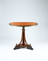 A Rare Regency Period Amboyna Elliptical Tripod Table Designed by George Smith