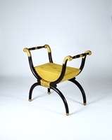 A Fine Regency Period Simulated Rosewood and Gilt X-Frame Stool to a Design by George Smith