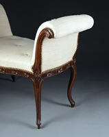 A PAIR OF GEORGE III PERIOD MAHOGANY WINDOW SEATS Attributed to Mayhew & Ince