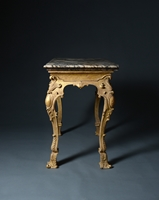 A Rare George I Giltwood Side Table Possibly by James Moore