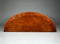 A Fine Pair of George III Period Mahogany And Burr Yew Wood Semi Elliptical Side Tables
