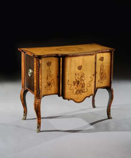 A Fine George III Period Marquetry Commode