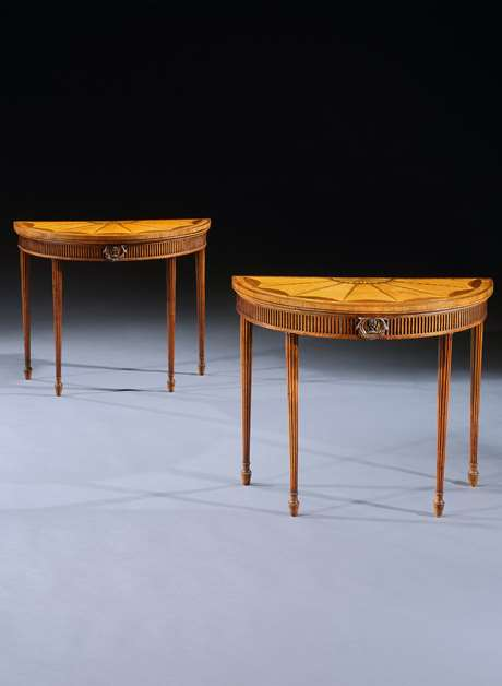 An Exceptional Pair of Card Tables attributed to Thomas Chippendale Junior