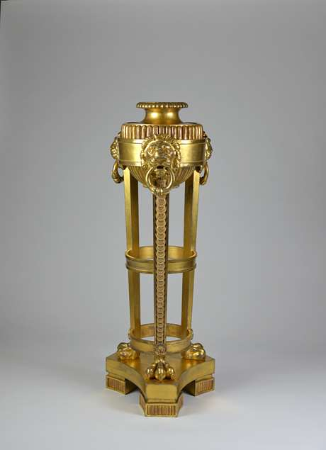 A Regency period giltwood stand in the manner of Thomas Hope